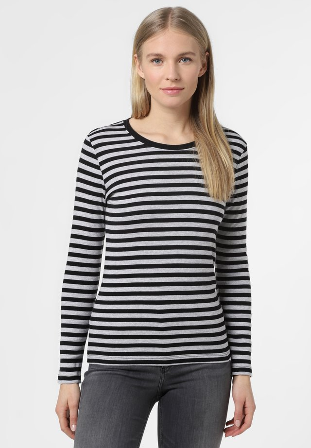 Long sleeved top - schwarz grau