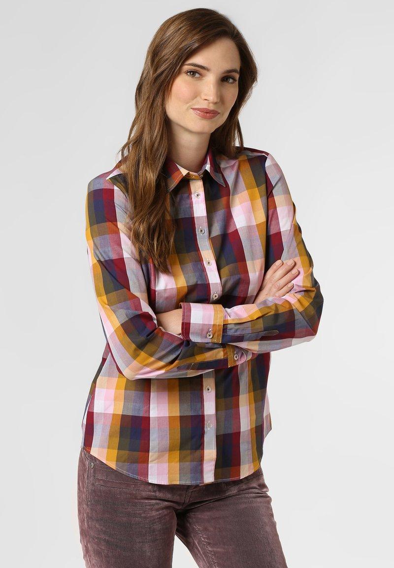 brookshire - Button-down blouse - yellow/marine
