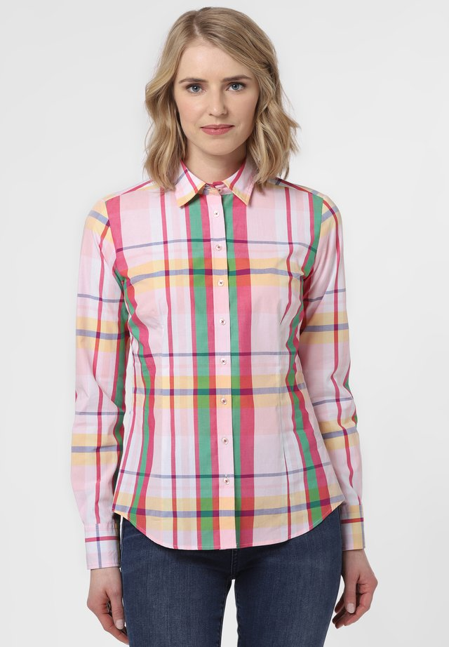 Button-down blouse - rosa grün
