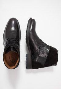 Brett & Sons - Šněrovací kotníkové boty - briso black - 1