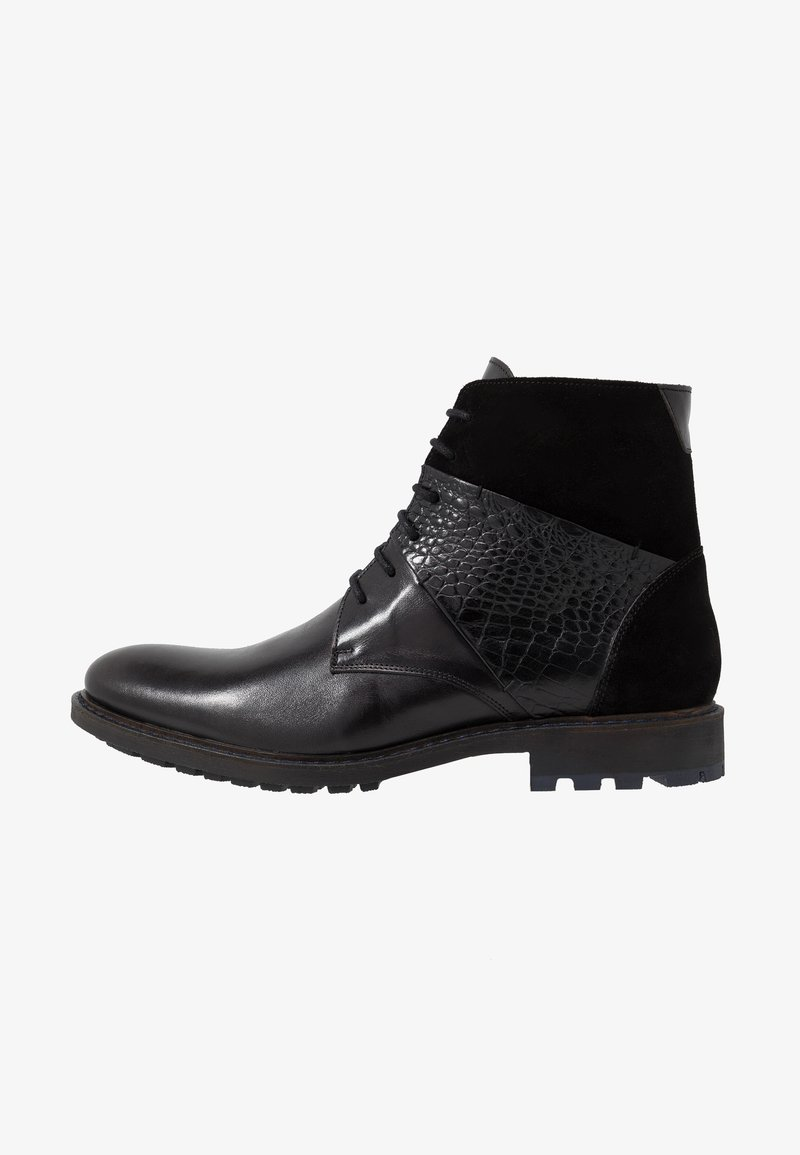 Brett & Sons - Šněrovací kotníkové boty - briso black