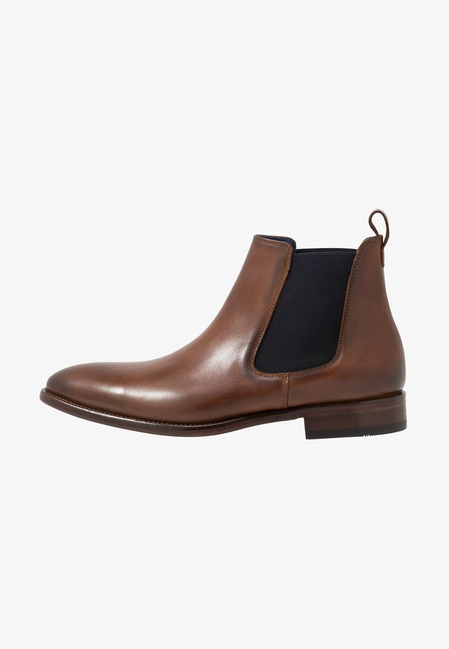 Classic ankle boots - natur tan/blue