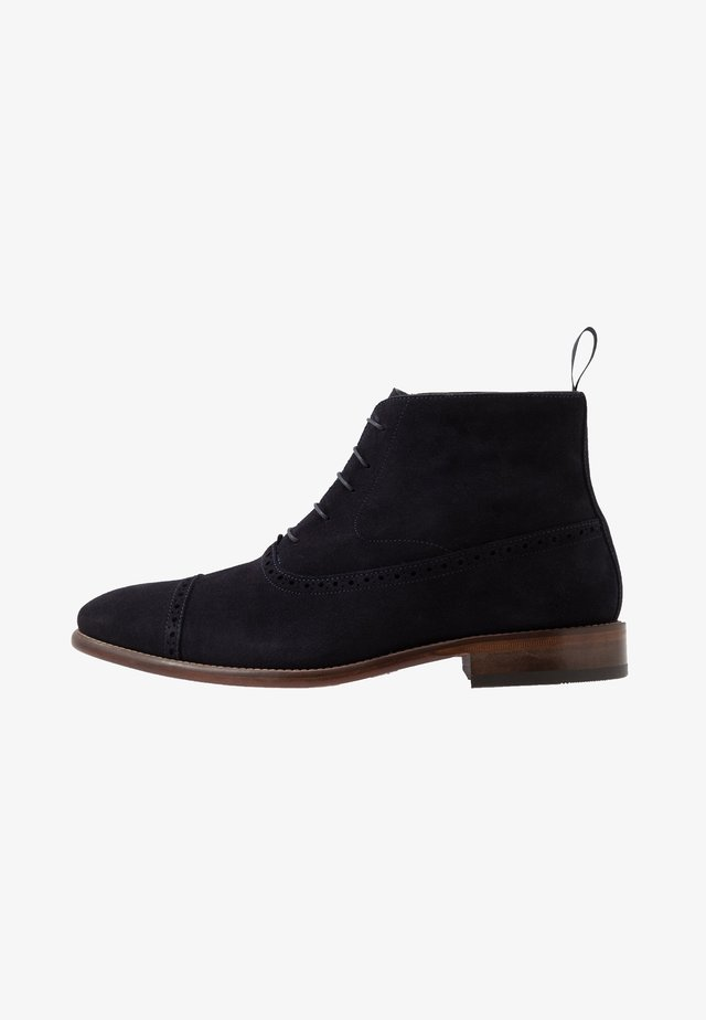 Lace-up ankle boots - marine