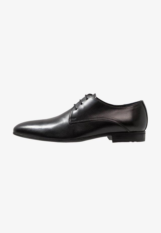 Elegantní šněrovací boty - noir