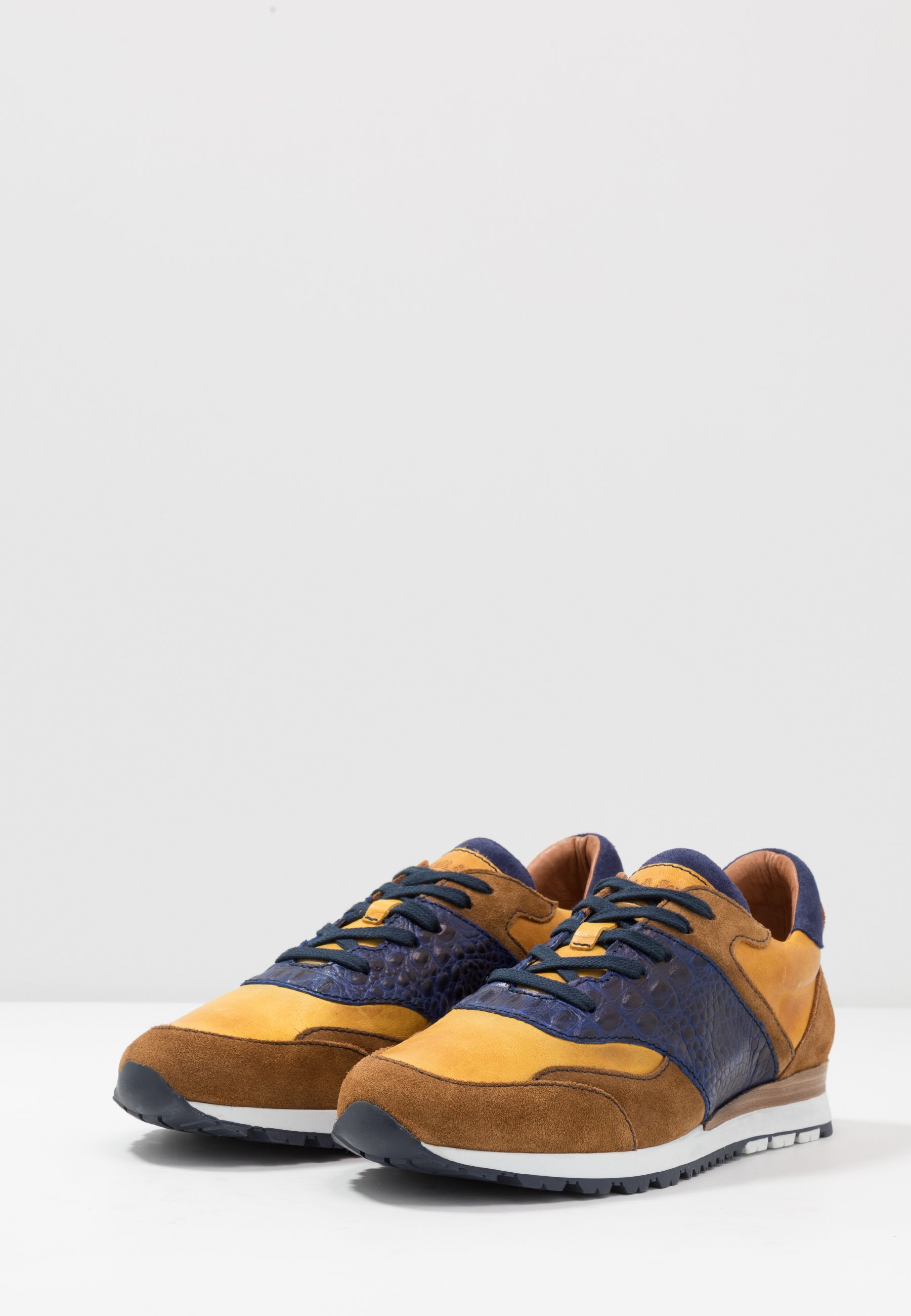 Brett & Sons Sneakersy niskie - caramelo/blue/royal