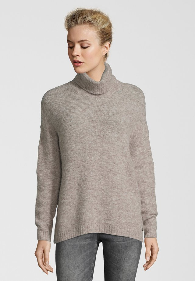 Strickpullover - taupe