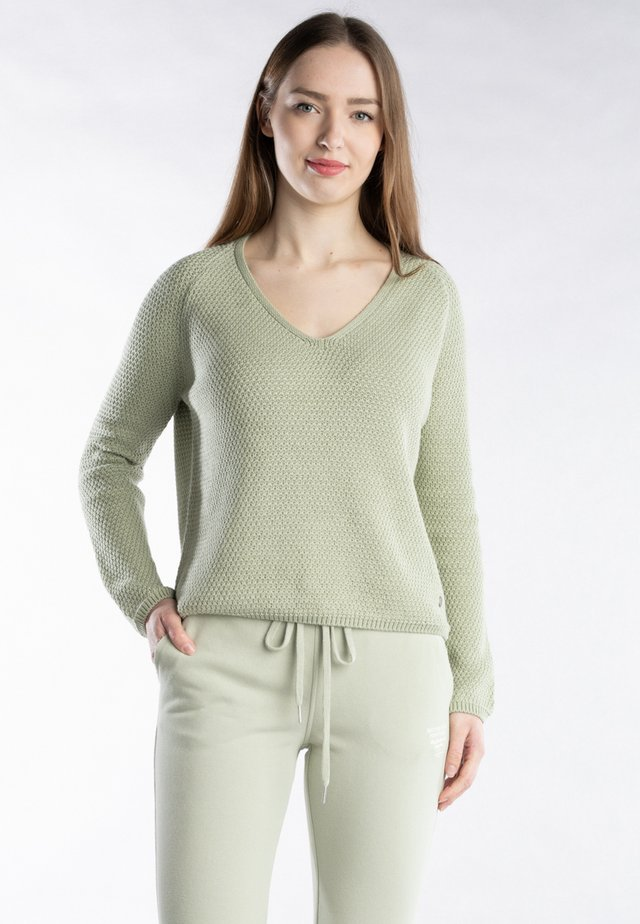 BETTER RICH V-NECK PEARL V-NECK PEARL - Trui - sage green