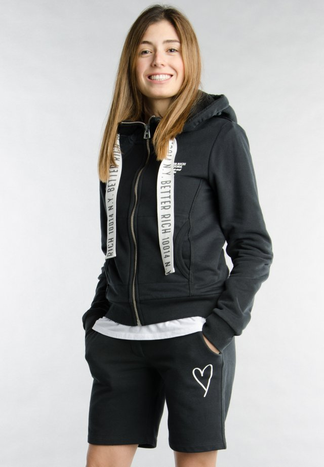 Zip-up hoodie - 1001 black