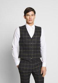 Ben Sherman Tailoring - BRUSHED WAISTCOAT - Waistcoat - black - 0