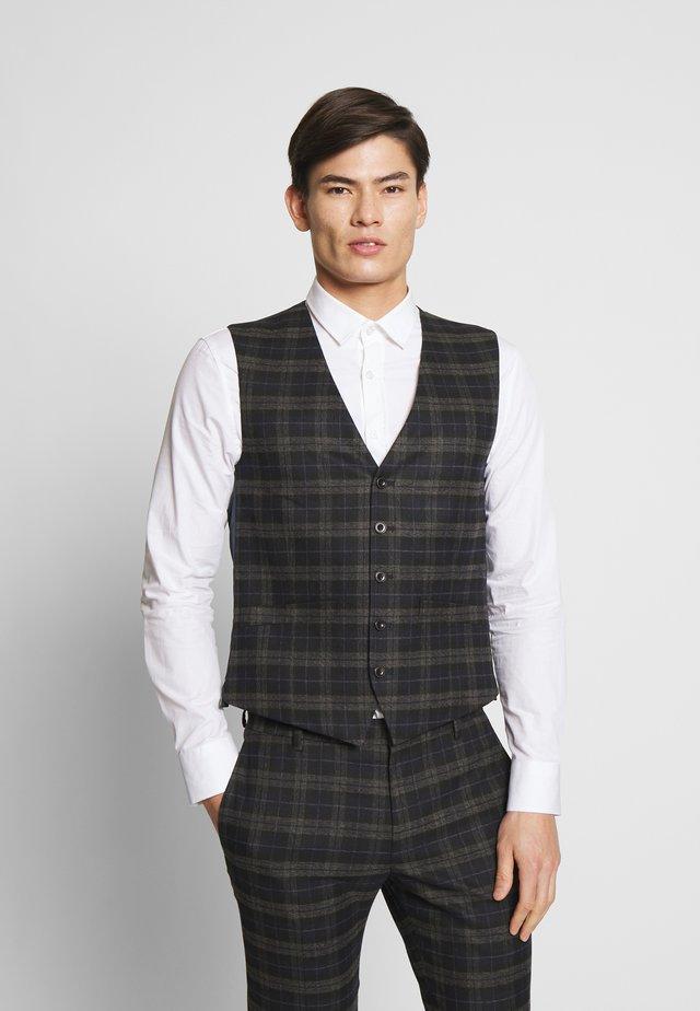 BRUSHED WAISTCOAT - Vest - black