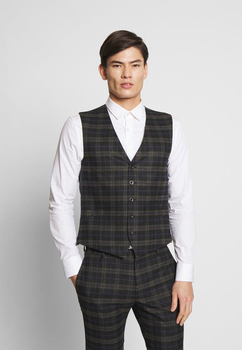 Ben Sherman Tailoring - BRUSHED WAISTCOAT - Väst - black