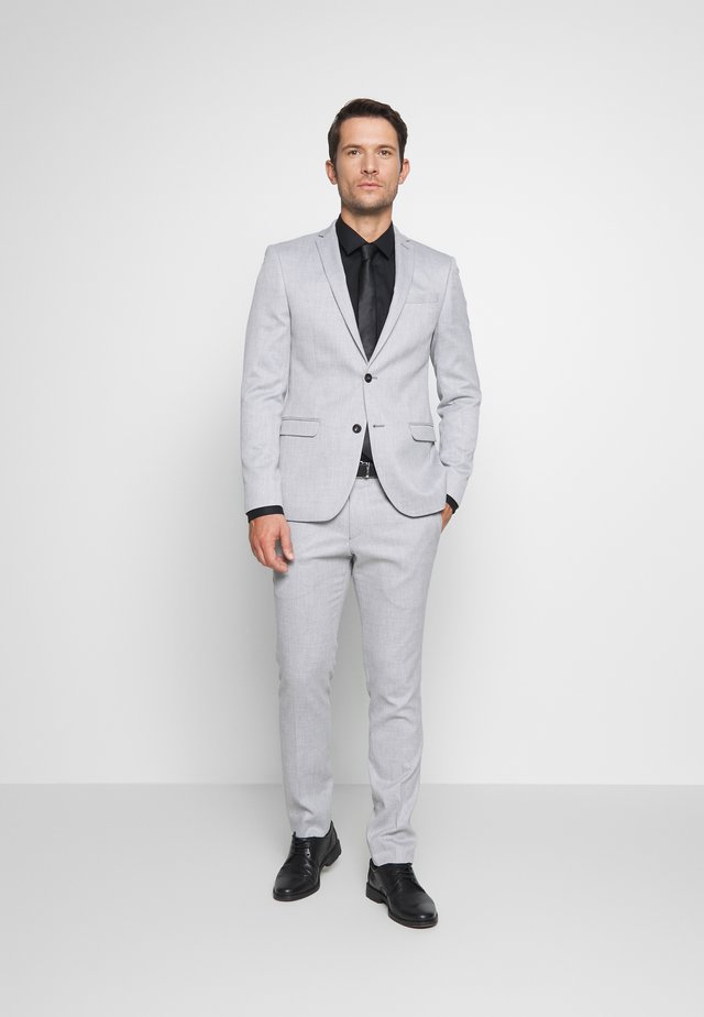COOL STRUCTURE SUIT SKINNY FIT - Kostym - grey