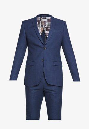 BRIGHT FLECK SUIT SLIM FIT - Suit - blue
