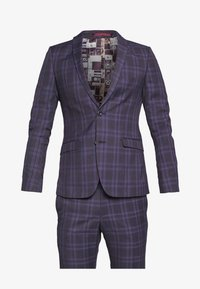 Ben Sherman Tailoring - CHECK SUIT SKINNY FIT - Suit - purple - 6
