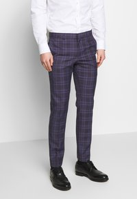 Ben Sherman Tailoring - CHECK SUIT SKINNY FIT - Suit - purple - 4