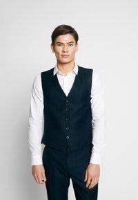 Ben Sherman Tailoring - SHADOW CHECK WAISTCOAT - Waistcoat - blue - 0