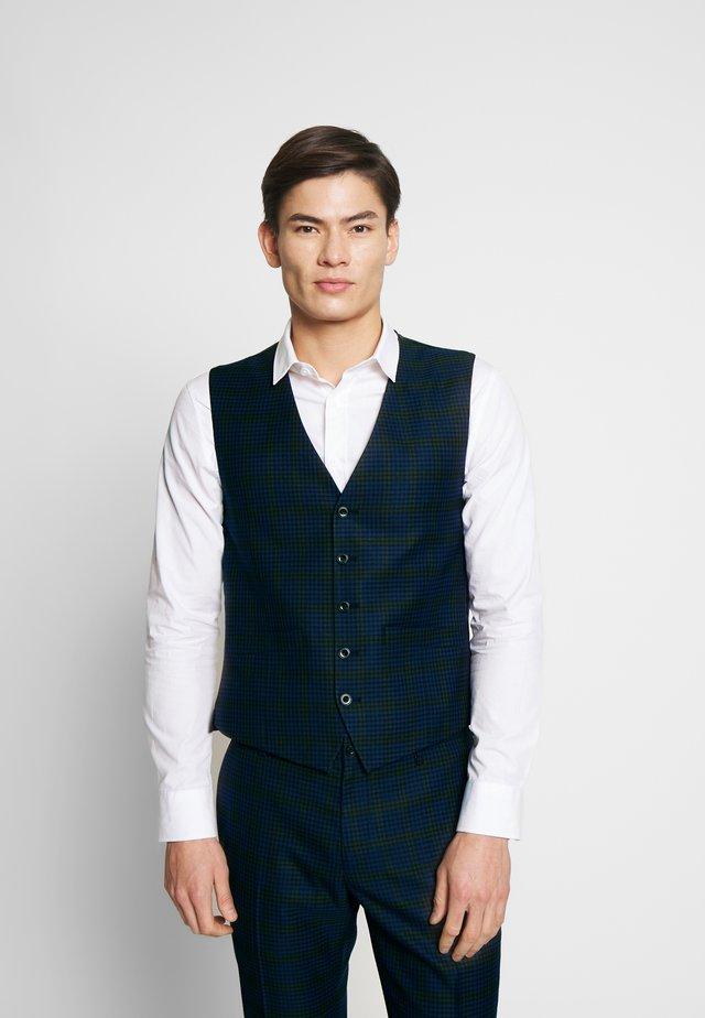 SHADOW CHECK WAISTCOAT - Vest - blue