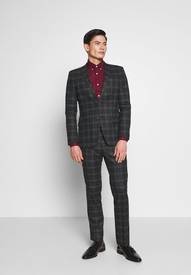 BRUSHED CHECK SUIT - Suit - black