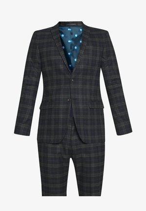 BRUSHED CHECK SUIT - Costume - black