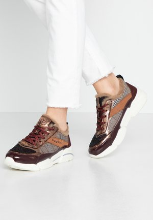 SHIGGY - Sneakers laag - bordo/multicolour