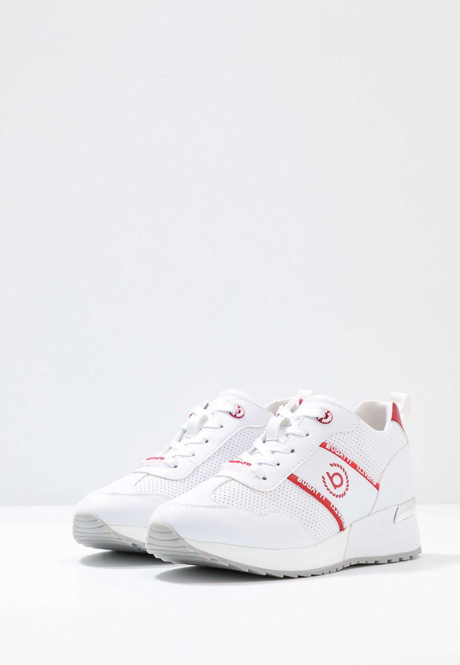Bugatti IVORY - Sneakers - white/red