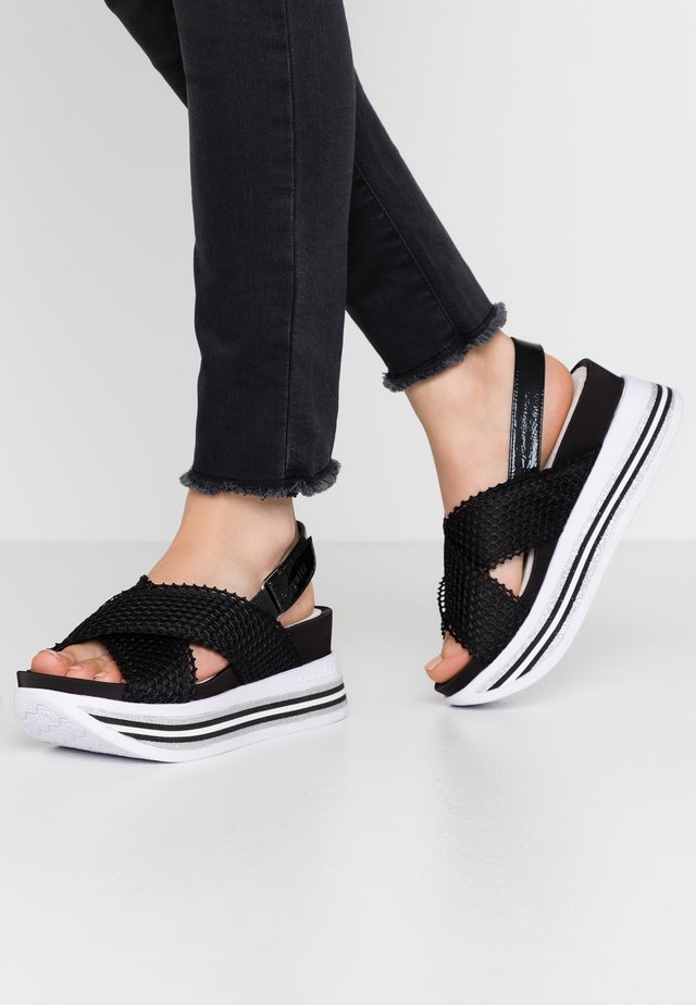 JIL - Korkeakorkoiset sandaalit - black