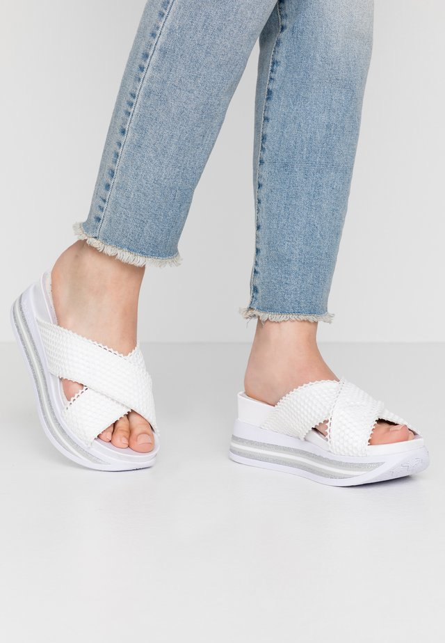 JIL - Slip-ins med klack - white