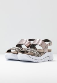 Bugatti - RAJA - Platform sandals - grey/metallics - 4