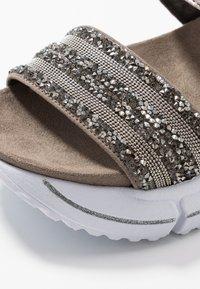 Bugatti - RAJA - Platform sandals - grey/metallics - 2