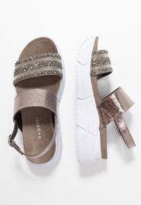 Bugatti - RAJA - Platform sandals - grey/metallics - 3