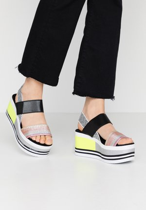 CHAI - Platform sandals - multicolour/silver