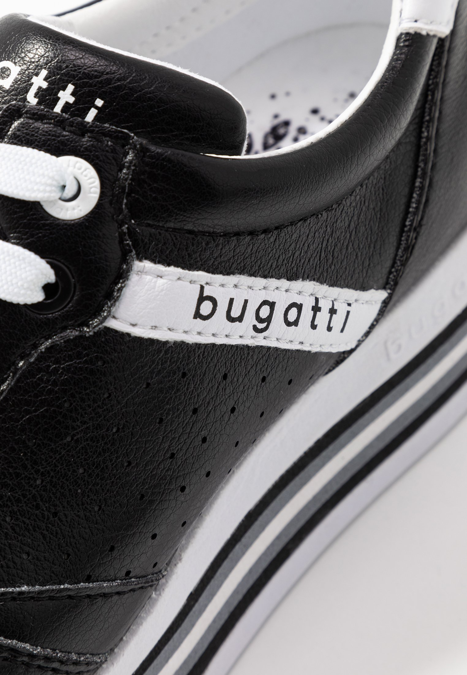 Bugatti Lian - Baskets Basses Black/white