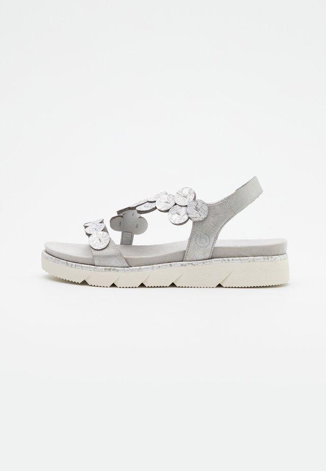 KIKO - Plateausandaler - light grey