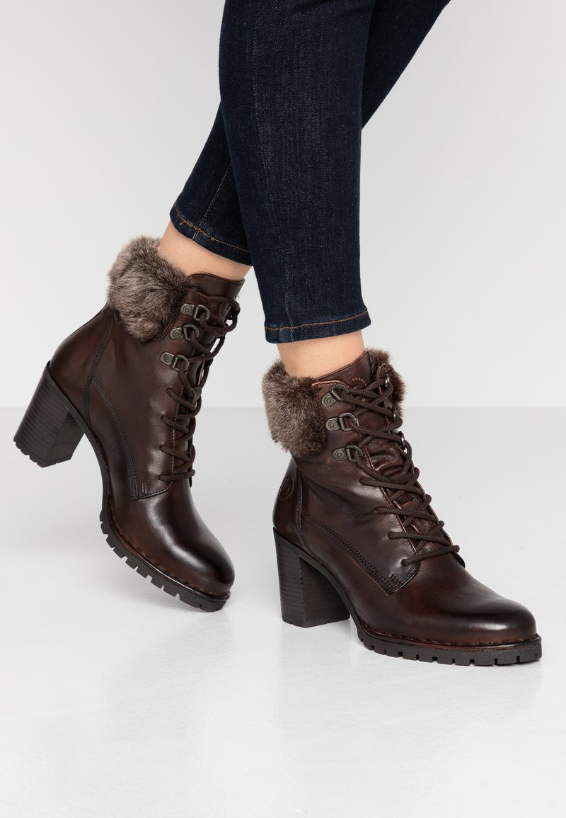 Bugatti - CINZIA EVO - Lace-up ankle boots - dark brown