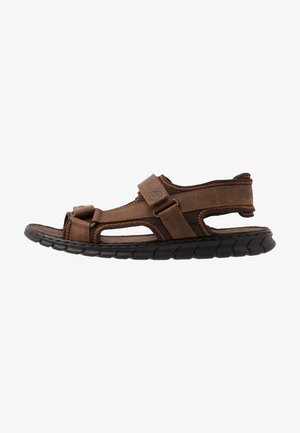 CORFU - Sandalias de senderismo - brown/dark brown
