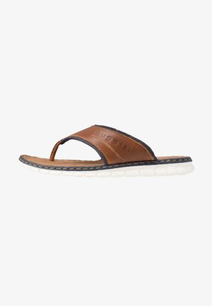 CORFU - T-bar sandals - cognac