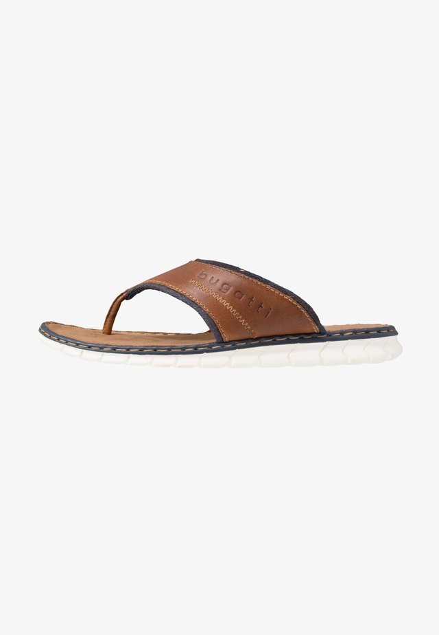 CORFU - T-bar sandals - cognac