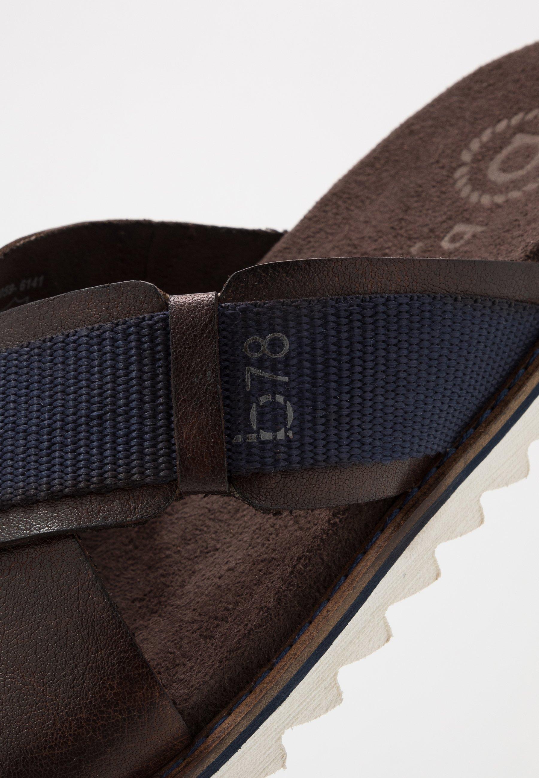 Bugatti Limon - Muiltjes Dark Brown/dark Blue Goedkope Schoenen