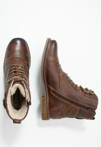Bugatti - VANDAL - Lace-up ankle boots - dark brown - 1