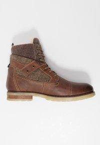 Bugatti - SUB EVO - Lace-up ankle boots - dark brown - 1