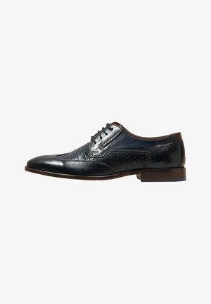PATRIZIO - Derbies & Richelieus - dark blue/cognac