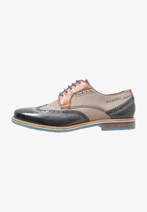 ADAMO - Lace-ups - dark blue/grey