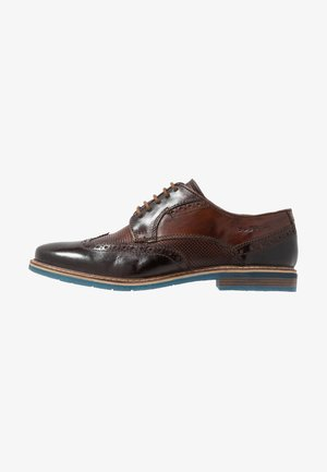 ADAMO - Lace-ups - dark brown/brown