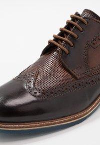 Bugatti - ADAMO - Lace-ups - dark brown/brown - 5
