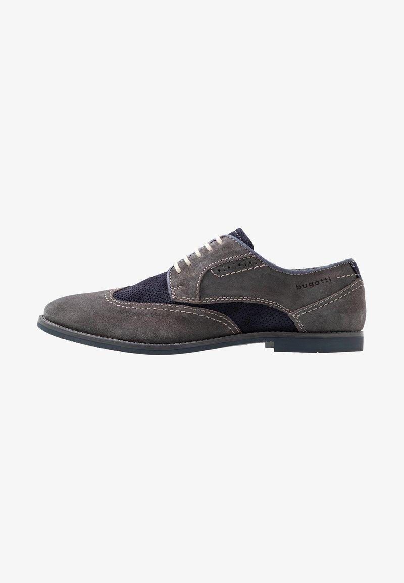 Bugatti - FEDELE - Šněrovací boty - grey/blue