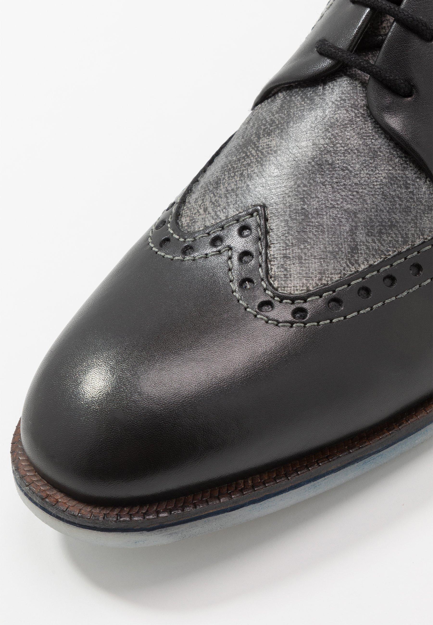 Bugatti Melchiore - Lace-ups Black/light Grey