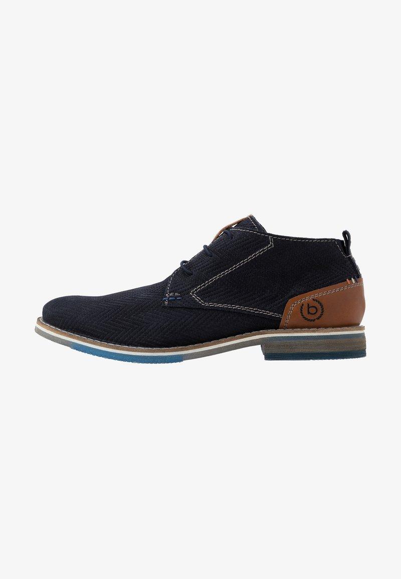 Bugatti - KIANO - Volnočasové šněrovací boty - dark blue