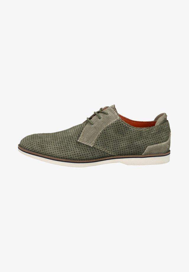 Sznurowane obuwie sportowe - green