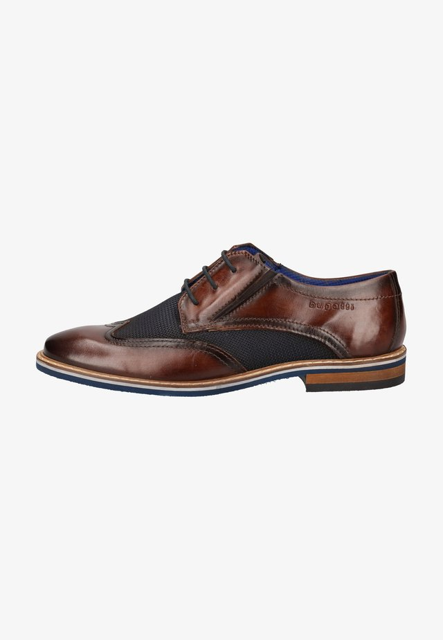 Zapatos con cordones - dark brown/blue