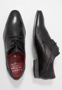 Bugatti - MORINO - Smart lace-ups - black - 1
